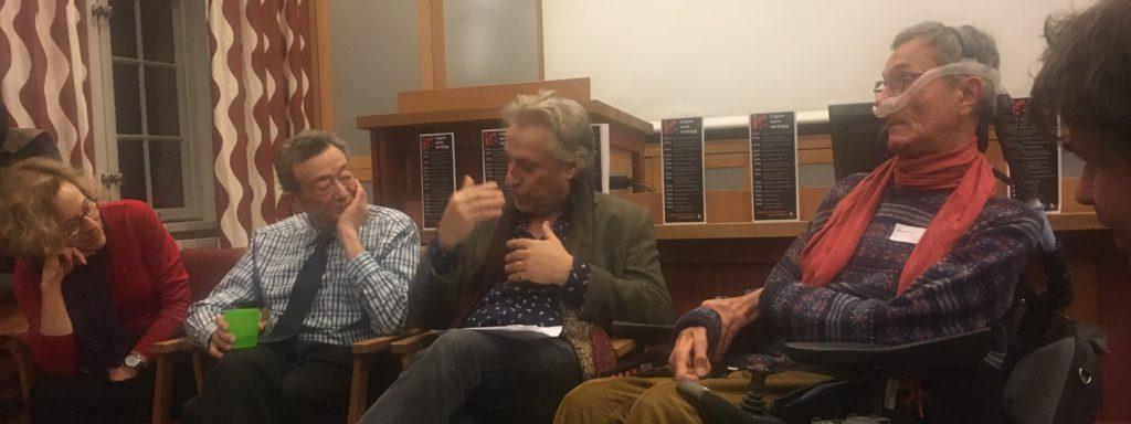 Pat Kirkpatrick, Sid Wolinsky, Lars Trägårdh och Adolf Ratzka