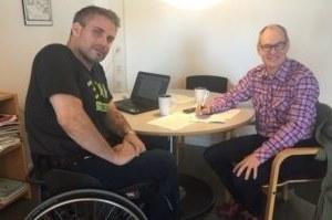Rasmus Isaksson intervjuas av Emil Erdtman