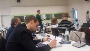 miljö från föreläsning i Trier