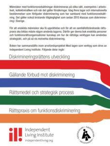 Baksida Motverka funktionsdiskriminering och förändra samhället med lagen som verktyg