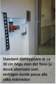 Brev från Stockholms stad om enkelt avhjälpta hinder