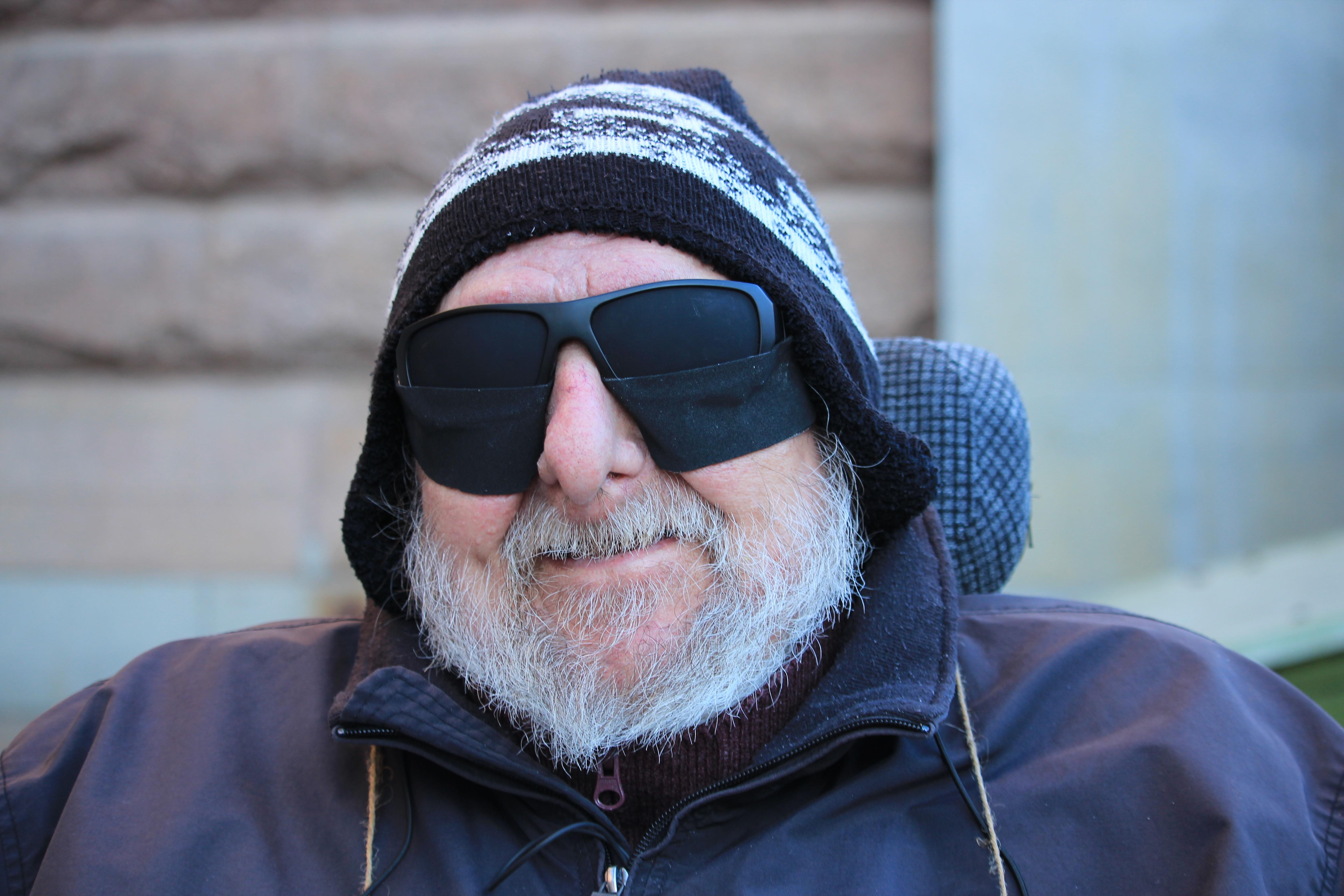 Närbild på en leende Sven Aivert på torsdagsaktionen sista oktober 2019.