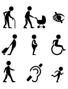 9 ikoner för funktionsnedsättningar