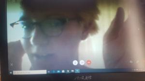 Annemarie Isbert i Skypeintervju.
