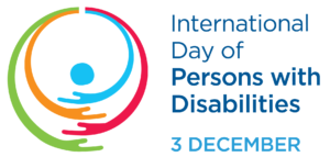 Logga med texten International Day of Persons with Disabilities 3 December.
