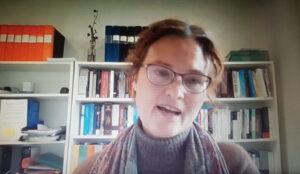 Anna Bruce, MR-expert i utredningen Stärkt assistans på ett webbinarium 2020.